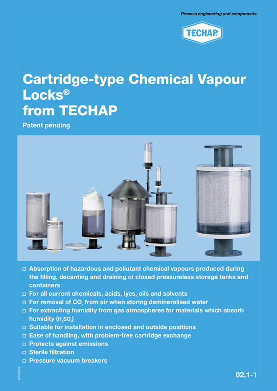 Techap. Cartridge-type Chemical Vapour Locks