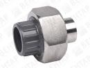 721545. Муфта разъемная переходная, PVC-U / нерж. сталь, раструб / под приварку
