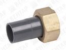 721550. Слив, PVC-U / латунь, патрубок-раструб / внутр. резьба G