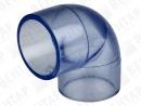 Колено 90°, PVC-U (прозрачный), раструб
