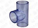 Тройник 90°, PVC-U (прозрачный), раструб