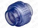 Муфта разъемная, PVC-U (прозрачный), раструб