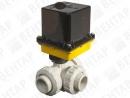 V965-537. Кран шаровой трехходовой с электроприводом