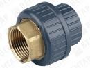 721550. Муфта разъемная переходная, PVC-U / латунь, раструб / внутр. резьба Rp