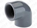 GOF. Колено 90° резьбовое, PVC-U, внутр. резьба Rp